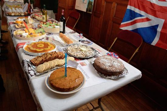 Le buffet de l'association Bury St Edmunds